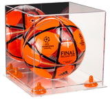 Deluxe Acrylic Soccer Ball Display Case with Mirror, Risers and Clear Base (A027-CB), Display Case, Better Display Cases, Better Display Cases - Better Display Cases