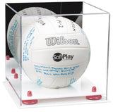 Mirrored Volleyball Display Box with White Base