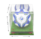 Deluxe Acrylic Soccer Ball Display Case with Risers, Mirror and Turf Base (A027-TB), Display Case, Better Display Cases, Better Display Cases - Better Display Cases