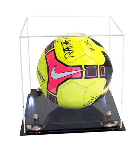Deluxe Clear Acrylic Soccer Ball Display Case with Risers (A027), Display Case, Better Display Cases, Better Display Cases - Better Display Cases