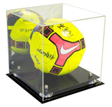 Deluxe Acrylic Soccer Ball Display Case with Risers and Mirror (A027), Display Case, Better Display Cases, Better Display Cases - Better Display Cases