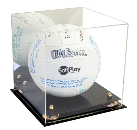 Volleyball Display Case <br> With Mirror, Display Case, Better Display Cases, Better Display Cases - Better Display Cases
