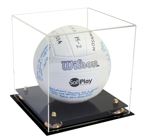 Deluxe Clear Acrylic Volleyball Display Case with Risers (A027), Display Case, Better Display Cases, Better Display Cases - Better Display Cases