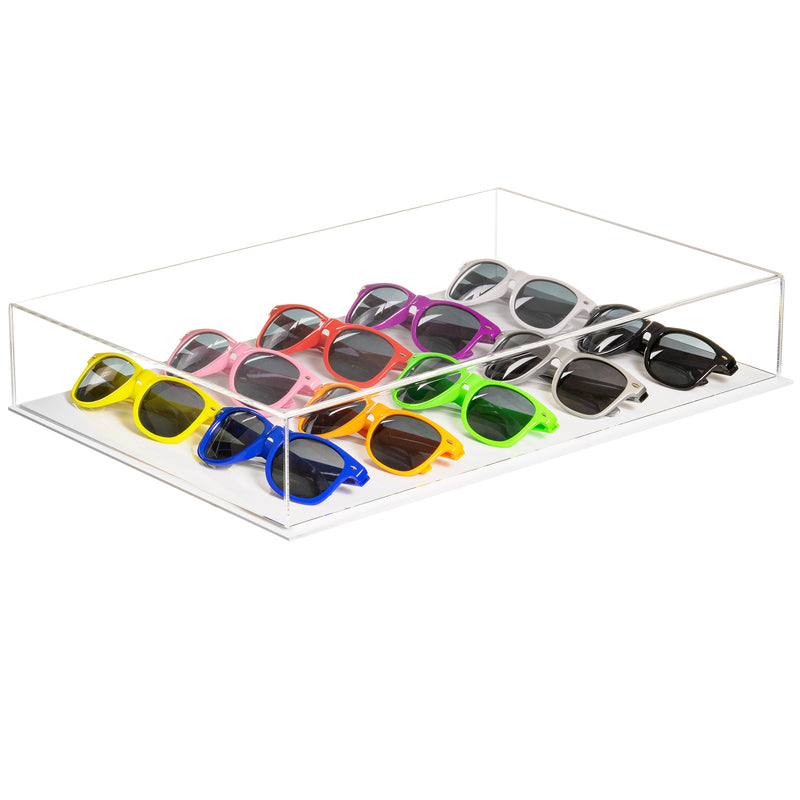 Acrylic Deluxe Clear Versatile Display Case with White Base (A029-B,BK09)