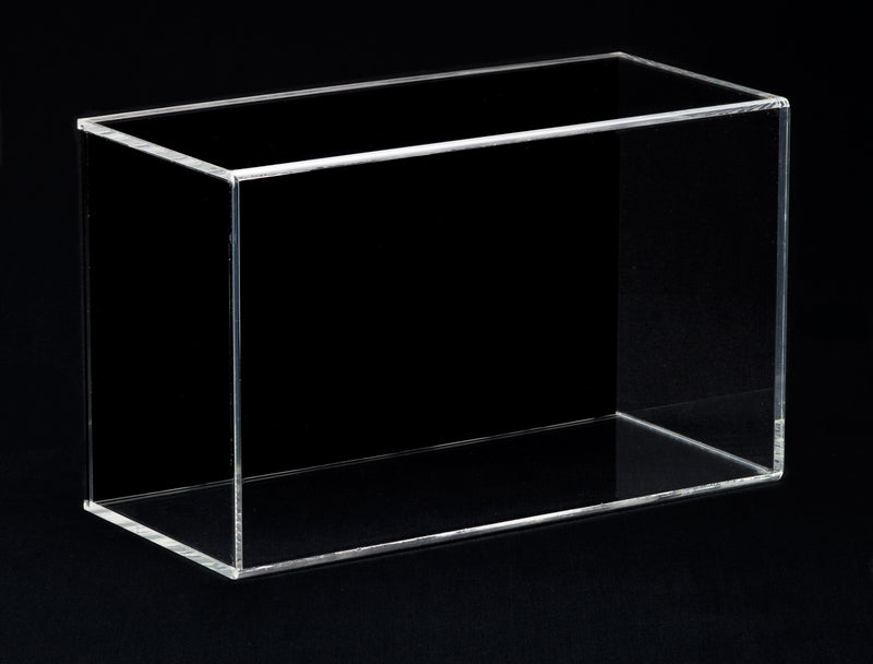 "Small Acrylic Display Case 8""x6""x13"" w/ Sliding Back A044/V17"