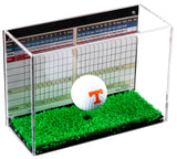 Deluxe Clear Acrylic Golf Ball Display Case with Black Back and Turf Floor, Display Case, Better Display Cases, Better Display Cases - Better Display Cases