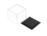 "Versatile Acrylic Display Case, Cube, Dust Cover and Riser <br><sub>3"" x 3"" x 3"" (A046-DS), Display Case, Better Display Cases, Better Display Cases - Better Display Cases"
