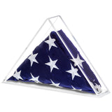 Clear Acrylic American Flag Memorabilia Display Case