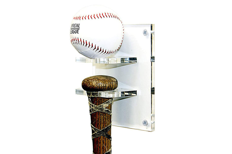 Deluxe Acrylic Standard Size Baseball Bat Wall Mount, Display Case, Better Display Cases, Better Display Cases - Better Display Cases