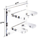 Acrylic Baseball Bat Wall Mount Brackets