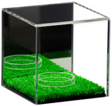 Deluxe Acrylic Baseball or Tennis Ball Display Case<br><sub>with Turf Floor (A057-TB)</sub>, Display Case, Better Display Cases, Better Display Cases - Better Display Cases