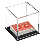"Acrylic Deluxe Table Top Display Case <br>(Clear or Mirrored) Small Square Box <br><sub>4"" x 4"" x 4"" (A057-DS)"