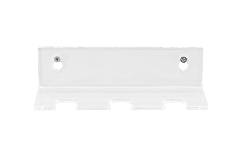 Clear Acrylic Wall Mounted Floating Shelf for 3 Badminton Racquets or Shuttlecocks (A066)