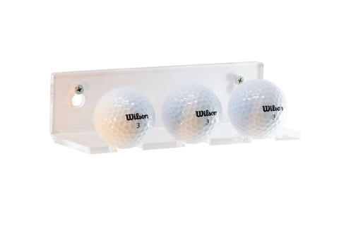 Deluxe Clear Acrylic Golf Ball Wall Mounted Floating Shelf Bracket, Display Case, Better Display Cases, Better Display Cases - Better Display Cases