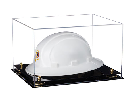 Acrylic Hard Hat Display Case w/ Black Base A082/V13