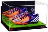 Deluxe Acrylic Large Shoe Pair Display Case for Basketball Shoes Soccer Cleats Football Cleats with Mirror, Wall Mount, Risers and Turf Base (A082-TB), Display Case, Better Display Cases, Better Display Cases - Better Display Cases