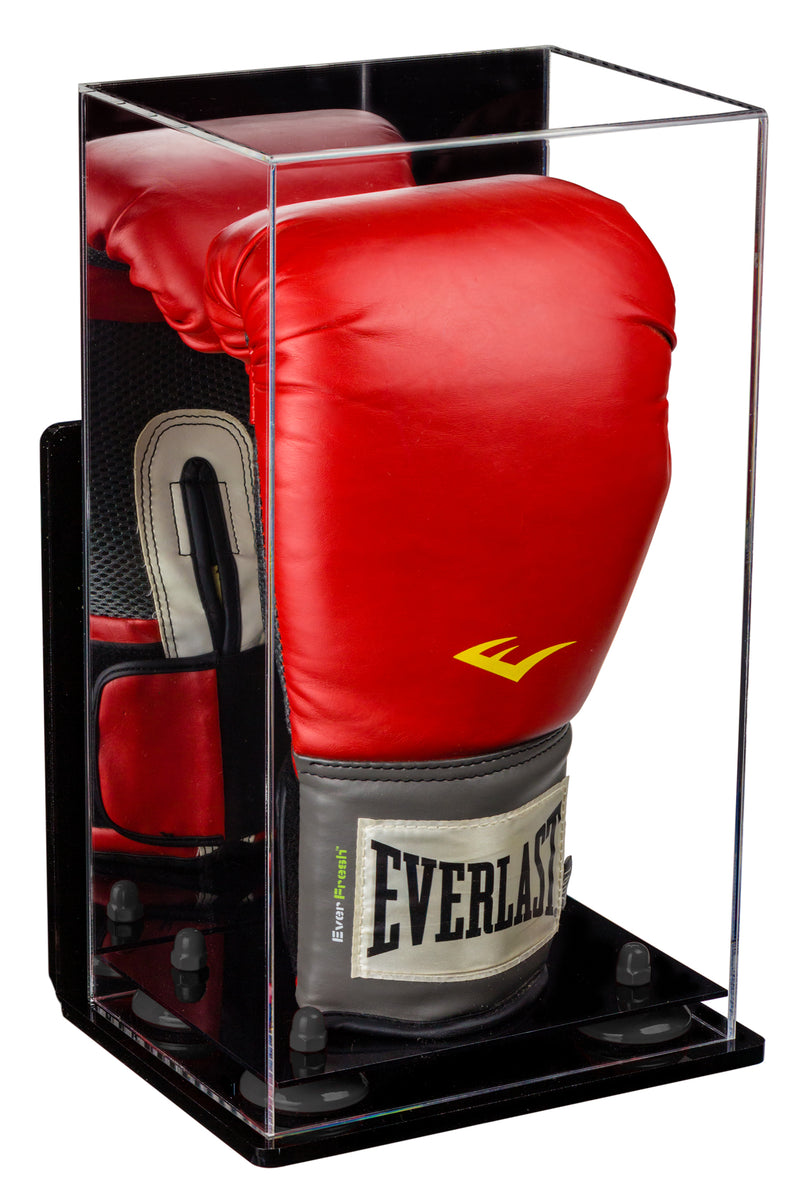 Acrylic Boxing Glove Vertical Display Case with Black Base A092/V18