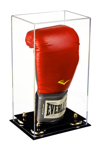 Deluxe Clear Acrylic Boxing Glove Display Case with Risers (A092)