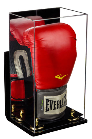Deluxe Acrylic Boxing Glove Display Case with Mirror, Wall Mount and Risers (A092)