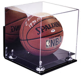 Basketball Display Case <br> Wall Mount With Mirror <br> Full Size<br> <sub> For NBA, NCAA, and more </sub> - Better Display Cases - 2