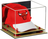 Basketball Hat or Cap Display Case with Mirror