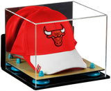 Basketball Hat or Cap Display Case with Wall Mount and Wood Base