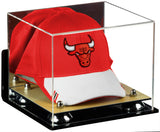 Mirrored Basketball Hat or Cap Display Case with Wall Mount