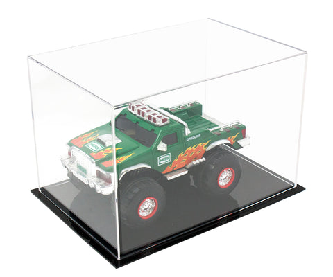 "Acrylic Deluxe Display Case<br>Medium Rectangle Box<br><sub>Clear or Mirrored<br>12"" x 8.25"" x 8"" (A004-DS)"