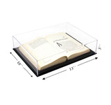 "Acrylic Deluxe Clear<br>Display Case<br>Medium Rectangle Box<br><sub>13"" x 10"" x 3"" (A029-DS), , Better Display Cases, Better Display Cases - Better Display Cases"