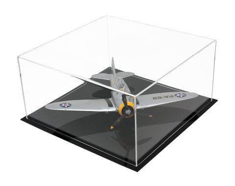 "Acrylic Deluxe Clear Display Case <br>Medium Rectangle Box <br><sub> 12"" x 12"" x 6"" (A030-DS)"