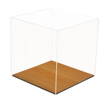 Basketball Display Case <br> With Wood Floor<br>(Clear or Mirror) <br> <sub> For NBA, NCAA, and more </sub>(A008-WB), Display Case, Better Display Cases, Better Display Cases - Better Display Cases