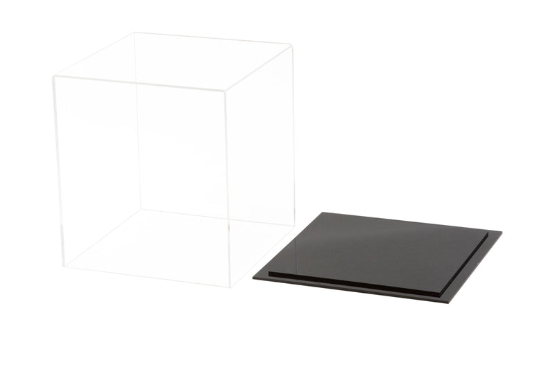 "Acrylic Deluxe<br>Display Case<br>Small Rectangle Box<br><sub> Clear or Mirror <br>7.75"" x 7.75"" x 8.5"" (A015-DS), Display Case, Better Display Cases, Better Display Cases - Better Display Cases"