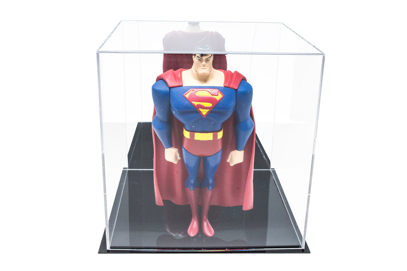 "Acrylic Deluxe Clear or Mirror Display Case<br><sub> Medium Square Box 10"" x 10"" x 10"" (A028-DS), Display Case, Better Display Cases, Better Display Cases - Better Display Cases"