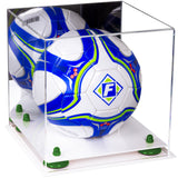 Mirrored Acrylic Soccer Ball Display Case