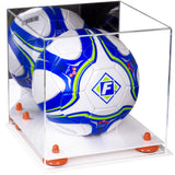 Acrylic Soccer Ball Display Case with Mirror
