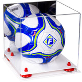 Acrylic Soccer Ball Display Box with Mirror
