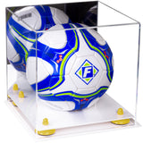 White Based Acrylic Soccer Ball Display Case
