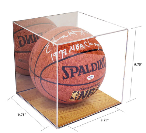 Basketball Display Case <br> With Mirror and <br> Wood Floor<br> <sub> For NBA, NCAA, and more </sub> - Better Display Cases - 2