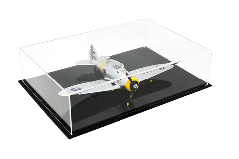 "Acrylic Deluxe Display Case<br>Large Rectangle Box<br><sub>16"" x 11"" x 4"" (A029-A)"
