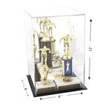 "Versatile Acrylic Display Case, Cube, Dust Cover and Riser <br><sub>8"" x 8"" x 12"" (A060-DS), Display Case, Better Display Cases, Better Display Cases - Better Display Cases"