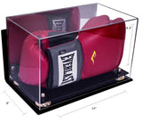 Boxing Glove <br> Mirrored Wall Mount <br> Display Case<br> <sub> Fits One or Two Gloves </sub> - Better Display Cases - 3