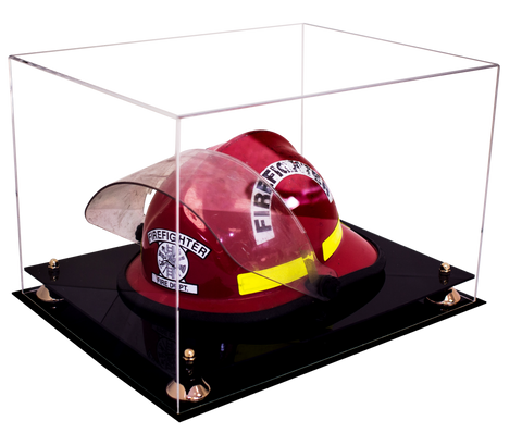 Fireman's Helmet <br> Clear Display Case <br> <sub> A Perfect gift for Dad! </sub> - Better Display Cases - 1