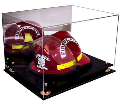 Fireman's Helmet Display <br> Case with Mirror<br> <sub> Perfect gift for Dad! </sub>, Display Case, Better Display Cases, Better Display Cases - Better Display Cases