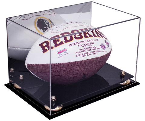 Full Sized Football <br> Display Case <br> With Mirror<br> <sub> NFL, NCAA, and more! </sub> - Better Display Cases - 1