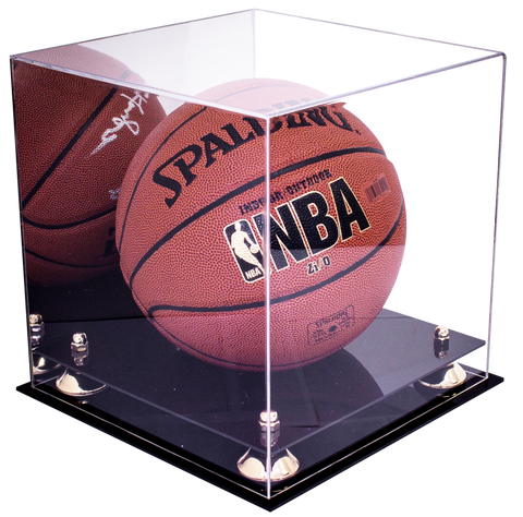 Basketball Display Case <br> With Mirror<br> <sub> For NBA, NCAA, and more </sub>, Display Case, Better Display Cases, Better Display Cases - Better Display Cases