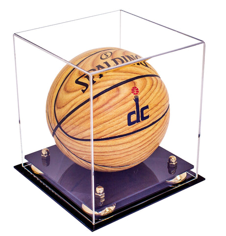 MINI - Miniature (not full size) Basketball <br> Clear Display Case <br><sub> NCAA, NBA, and More!, Display Case, Better Display Cases, Better Display Cases - Better Display Cases
