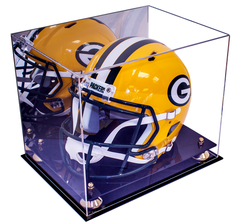Football Helmet Case <br> Full Size With Mirror<br> <sub> NFL, NCAA, and more! </sub> - Better Display Cases - 1