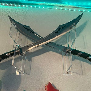Clear Wall Mounts and Table Stands for Swords