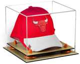 Basketball Hat or Cap Display Case with Risers