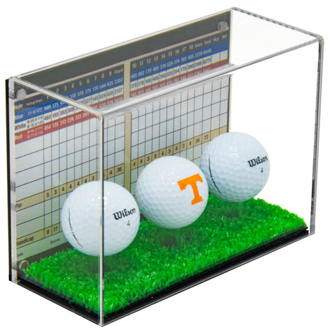 Acrylic Golf Ball and Scorecard Display Case A045/B51